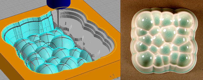 Contemporary Artwork Spheres Tray