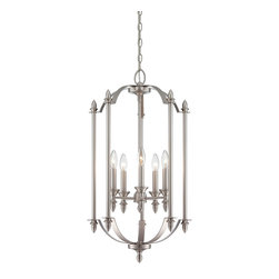 Savoy House Lighting - Savoy House Lighting 3-4501-5-69 Aldrich 5 Light Foyer Pendants in Pewter - Savoy House Foyer lights will bring illumination to any entryway space with a timeless style that you will love for years to come. Choose from pewter or English bronze finishes.