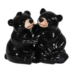 Westland - 3.5 Inch Hugging Bears Kitchenware Salt and Pepper Shakers - Black - This gorgeous 3.5 Inch Hugging Bears Kitchenware Salt and Pepper Shakers - Black has the finest details and highest quality you will find anywhere! 3.5 Inch Hugging Bears Kitchenware Salt and Pepper Shakers - Black is truly remarkable.
