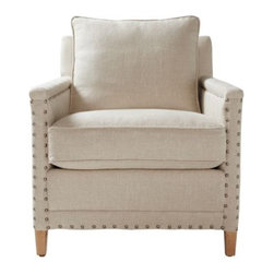 Serena & Lily - Spruce Street Chair  Upholstered - Sophisticated but never stuffy, our Spruce Street Chair has cosmopolitan appeal. The look is tailored and chic, with refined proportions that don't sacrifice comfort for style. Every last detail was considered, from the distance between each hand-applied nailhead to a just-right seat depth.