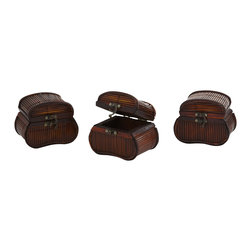 Nearly Natural - Nearly Natural Bamboo Chests (Set of 3) - What treasures will you hide inside these beautiful bamboo chests? Jewels? Coins? Something secret only known to you? Whatever you decide to fill them with, one thing remains certain - they simply look great, and will be a handsome part of your decor for years to come. This is a set of three, so there's plenty of space to go around. Buy a set for yourself, and another as an interesting, thoughtful gift.