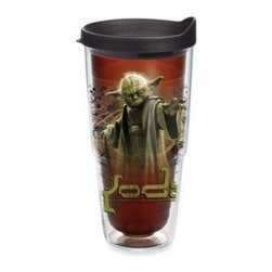 Tervis - Tervis Star Wars Yoda 24-Ounce Wrap Tumbler with Lid - Learn the ways of the Force from the Jedi Master, Yoda, and this colorful, durable tumbler. The tumbler features a bold, detailed image of Yoda in the midst of his powers. Suitable for hot or cold drinks, lid included.