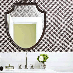eclectic wallpaper by Quadrille