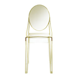East End Imports - Philippe Starck Style Ghost Side Chair Yellow - Combine artistic endeavors into a unified vision of harmony and grace with the ethereal Ghost Chair. Allow bursts of creative energy to reach every aspect of your contemporary living space as this masterpiece reinvents your surroundings. Surprisingly sturdy and durable, the Philippe Stack Style Ghost Arm Chair is appropriate for any room or outdoor setting. Pure perception awaits, as shining moments of brilliance turn visual vacuums into new realms of transcendence.