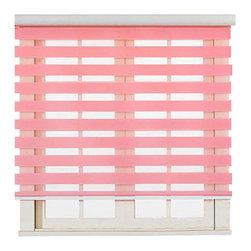 "Blinds-US - Roller Zebra Blind / Light filtering sheer shade, Pink, 36""in W X 72""in L / 91.5 - Product Description"