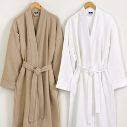 Hotel Collection Robe, Pique Kimono Bathrobe - Relax in the plush luxury of Hotel Collection. This sophisticated bathrobe features superior Turkish cotton construction for softness and comfort. Only at Macy's.