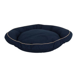 Carolina Pet Company - Classic Cotton Canvas Bolster Bed W/Contrast Cording - 100% classic cotton twill with contrast cording is sure to compliment any room.  Removable zippered cover is machine washable.  100% polyester high loft fill keeps pets off cold floors for added comfort and relief on joints.