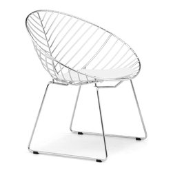 Zuo Modern - Whitworth Dining Chair Chrome Sold in Sets of 2 - The Whitworth dining chair creates a perfect shape of strength with its elegant lines. The frame is solid steel for durability. This chair sits wide and comfy, but looks sleek and sexy.