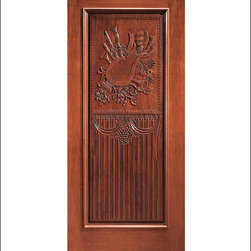 Carved and Mansion Entry Doors Model # 4 - Our Carved and Mansion doors are hand carved by master craftsman.  They will certainly add to the wow factor of any entrance exterior or interior.  The doors are Mahogany and can be stained and finished in a variety of colors to complement your homes beauty.  You may also like our International collection which is inspired by world design.