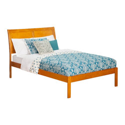 Atlantic Furniture - Atlantic Furniture Portland Bed with Open Foot Rail in Caramel Latte-Twin Size - Atlantic Furniture - Beds - AR8921007