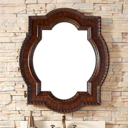 James Martin Furniture - James Martin Furniture Castilian Collection 35 in. Mirror - 160-M35-ACG - Shop for Home Furnishings and Accents from Hayneedle.com! The James Martin Furniture Castilian Collection 35 in. Mirror boasts a beautiful traditional design with a unique shape. This handsome mirror weighs only 28 lbs. and can be displayed either horizontal- or vertical-style. The frame is made from solid hardwood (kiln-dried birch) and topped with select oak veneers. The mirror's shape is a combination of a square overlaying an oval. The frame comes with a notched border on the inner and outer edges and is topped with a handsome aged cognac finish. Over a vanity or paired with a dresser this mirror is a natural addition to any room.About James Martin FurnitureJames Martin Furniture is an international bestseller of fine quality products for every room in the home. From bedroom to bathroom and everything in between James Martin provides a sturdy unit that's right for your home including handsome traditional pieces as well as sleek modern designs. For over a decade the company has built a loyal following from retailers in the United States Australia Asia and Europe. Vanities dressers and mirrors are but a few of the products offered by James Martin Furniture.