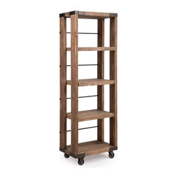 ZUO - Kirkwood 4 Level Shelf - The Kirkwood 4 Level Shelf is a modern day curio cabinet. Made of distressed elm and metal. It beautifully displays anything from taxidermy owls to your sedate collection of National Geographics.
