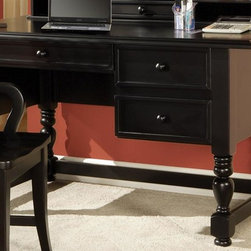 Steve Silver Co. - Bella Desk in Multi-Step Black Finish - Keeps you organized & looking stylish. Multi-step Black finish. Corner block construction. Tongue and groove joints. Select hardwood solids material. Some assembly required. 54 in. W x 30 in. D x 30 in. H (152.5 lbs.)