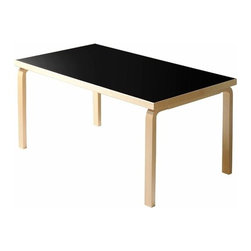 "Artek - 83 Dining Table - Features: -Tables collection. -L-legs birch, natural lacquered. -Table top edge birch, lacquered. -2"" thickness table top. -HL2-legs available. -Overall dimensions: 28.3"" H x 71.7"" W x 35.8"" D."
