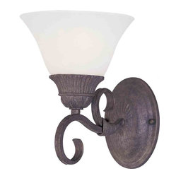 Maxim Lighting - Maxim Lighting 8030SVCR Canyon Rim Canyon Rock Wall Sconce - 1 Bulb, Bulb Type: 100 Watt Incandescent