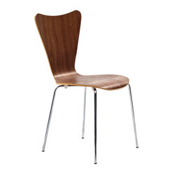 East End Imports - Arne Jacobsen Style Series 7 Side Chair | Contemporary Furniture Warehouse - Minimalist in nature though it may be, this seat doesn't skimp on comfort. Its seemingly rigid design, flexes to the contours of the human body, making it a great side chair for homes and businesses alike.æ