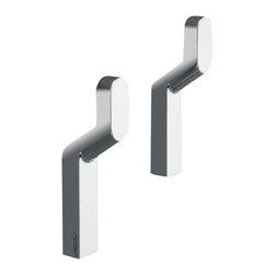 Gedy - Pair Of Chrome Hooks - Pair of single hook(s).