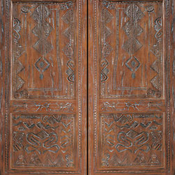 "African Style Hand Carved Mahogany Prehung Double Door - SKU#    45-Mombasa_2Brand    AAWDoor Type    ExteriorManufacturer Collection    International Collection Exterior DoorsDoor Model    Door Material    WoodWoodgrain    MahoganyVeneer    Price    3220Door Size Options    2(30"") x Height"" (5'-0"" x 6'-8"")  $02(32"") x Height"" (5'-4"" x 6'-8"")  $02(36"") x Height"" (6'-0"" x 6'-8"")  +$402(42"") x Height"" (7'-0"" x 6'-8"")  +$2602(36"") x Height"" (6'-0"" x 7'-0"")  +$2802(30"") x Height"" (5'-0"" x 8'-0"")  +$6402(32"") x Height"" (5'-4"" x 8'-0"")  +$6402(36"") x Height"" (6'-0"" x 8'-0"")  +$6802(42"") x Height"" (7'-0"" x 8'-0"")  +$680Core Type    SolidDoor Style    Door Lite Style    Door Panel Style    Hand Carved Panel , 2 PanelHome Style Matching    Door Construction    Solid Stiles and RailsPrehanging Options    PrehungPrehung Configuration    Double DoorDoor Thickness (Inches)    1.75Glass Thickness (Inches)    Glass Type    Glass Caming    Glass Features    Glass Style    Glass Texture    Glass Obscurity    Door Features    Door Approvals    Door Finishes    Door Accessories    Weight (lbs)    850Crating Size    25"" (w)x 108"" (l)x 52"" (h)Lead Time    Slab Doors: 7 daysPrehung:14 daysPrefinished, PreHung:21 daysWarranty    1 Year Limited Manufacturer WarrantyHere you can download warranty PDF document."