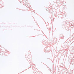 Nature Study Toile - Blossom - A gorgeous collection of mid-century and craftsman style wallpapers - The Ralph Lauren Family Places.