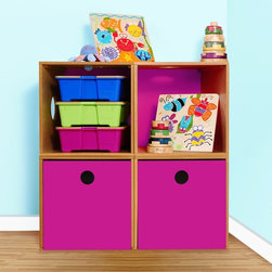 Groovy Gear For Baby - The P'kolino Kube Drawers are part of a modular system, so you can configure them to your needs.  These stylish wood pieces complement the P'kolino Playfully Smart Collection and can be accented with several colors to complement your home decor.