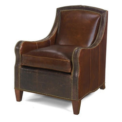 EuroLux Home - New Accent Chair Wood Leather - Product Details
