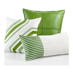 Hotel Collection Modern Trellis Decorative Pillow - I love this set in different patterns, sizes and textures. What's not to like?