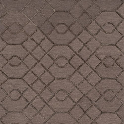"Loloi Rugs - Loloi Rugs Panache Collection - Raisin / Coffee, 2'-3"" x 7'-6"" - Distinguished by its textural effects and mix of fibers, the Panache Collection looks and feels like no other geometric patterned rug. The base of each Panache is hooked with wool for natural comfort, while the design is a raised pile of viscose that shines beautifully. Available in tonal, easy-to-match-anywhere colors and a variety of sizes."