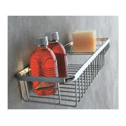 WS Bath Collections - Filo 7 in. Shower Basket w Soap Dish in Polis - Made in Italy. Product Material: Brass. Finish/Color: Polished Chrome. Dimensions: 5.5 in. W x 7.9 in. L x 2.2 in. H