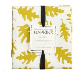 Oak Leaf Table Napkins - These cotton napkins are great for fall, but certainly work for any season. The crisp leaves and that bright pop of color add just the right amount of playful fun to any mealtime.