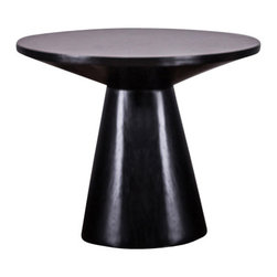 Modloft - Eyre Side Table, Black Oak - Eyre side table features wood base and table top. Measures 28d x 22. Available in multiple colors. Made in Brazil. Imported.