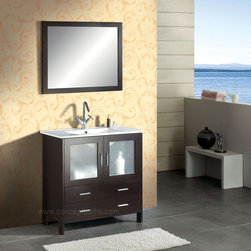 "35.5"" Single Bathroom Vanity Set in Espresso AG-AM015 - Features"