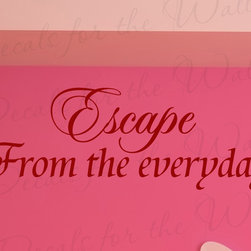 Decals for the Wall - Wall Decal Quote Sticker Vinyl Art Large Lettering Letter Decorative Escape I81 - This decal says ''Escape from the everyday''