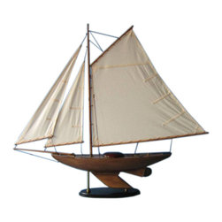 "Handcrafted Model Ships - Lakeview Sloop 40"" - Beach Home Accent - Not a Model Ship Kit"