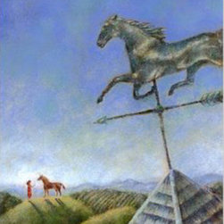 "Weathervane (Original) By Deborah Lanino - This is an original painting. It was published as a book jacket for the Young Adult novel ""Unbroken"" by Jessica Hass."