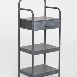 4040 Locust Industrial Shelf - If you are fond of sitting in bed with your laptop, this shelving unit makes a great bedside table. Use the shelves to store your laptop and bag and the drawer for all of your cables, and then there's still plenty of space on the top for a lamp and alarm clock.