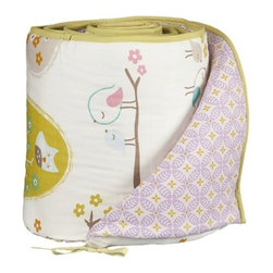 Lolli Living Bumper, Lovebirds - Add a splash of fun to your nursery with the adorable Lolli Living Bumper. Designed to coordinate with other Lolli Living bedding and decor (sold separately), the reversible Lolli Living Bumper features complementary prints on each side.