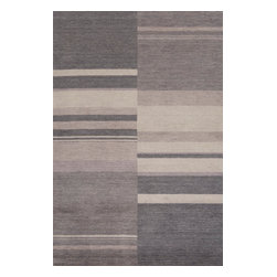 "Momeni Rug - Momeni Rug Gramercy 9'6"" x 13'6"" GM-10 Charcoal GRAMEGM-10CHR96D6 - The Gramercy Collection spans the gap between high end hand knotted rugs and the modern day desire for casual elegance. Featuring subtle designs and muted earth tones, these floor coverings lend relaxed grace and style to the home. A beautiful addition to any room, the Gramercy Collection is fashionable and graceful."