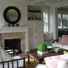 Traditional Living Room by Kim Woods