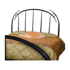 Mathews & Company - Pinnacle Wrought Iron Headboard, Queen - The Pinnacle Wrought Iron Headboard is a wonderful piece for your master suite or guest bedroom. Pictured in Black finish.