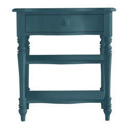 Stanley Furniture - Coastal Living Retreat-Bedside Table - Curves, turned legs and bedside scale evoke mornings along the Maine coast.