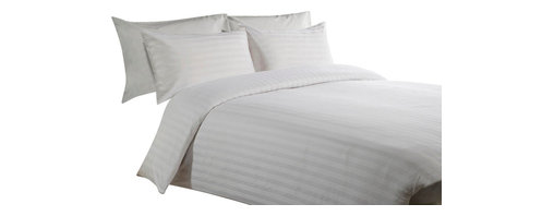 400 TC Duvet Cover Striped White, Full - You are buying 1 Duvet Cover (88 x 88 Inches) Only.