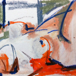 Reclining Figure (Original) By Heidi Lanino - This drawing was created from a live model reclining in a relaxed pose. I created a few studies of this composition and liked this one the most. Oil pastel on paper.