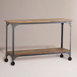 Aiden Console Table - I love the mix of wood and metal in this console table. It's perfect for right behind the couch.
