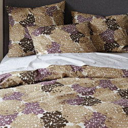 Organic Fall Blooms Duvet Cover - This sweet look is glamorous and feminine and perfect for a girl's room.