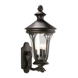 DHI-Corp - Corbett Outdoor Uplight, 10.63-Inch by 23.75-Inch, Oil Rubbed Bronze - The Design House 516740 Corbett Outdoor Uplight greets your guests at the door with a soft, inviting glow. Finished in oil rubbed bronze with clear seeded glass, this outdoor sconce has curved lines and a lantern construction for a vintage appeal. The soft, intricate details make this fixture look like it came from an antique shop without the upkeep or high costs. Measuring 10.63-inches by 23.75-inches, this lamp matches brick, stone, wood paneling or aluminum siding. This wall mounted light features (3) 60-watt medium base candelabra lamps and is rated for 120-volts. UL listed and UL approved for wet areas, this uplight will not break or rust in harsh weather. Coordinate your home with fixtures and furnishings from the Corbett collection for a complete look. The Design House 516740 Corbett Outdoor Uplight comes with a 10-year limited warranty that protects against defects in materials and workmanship. Design House offers products in multiple home decor categories including lighting, ceiling fans, hardware and plumbing products. With years of hands-on experience, Design House understands every aspect of the home decor industry, and devotes itself to providing quality products across the home decor spectrum. Providing value to their customers, Design House uses industry leading merchandising solutions and innovative programs. Design House is committed to providing high quality products for your home improvement projects.