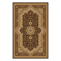 Rug - ~5 ft. x 8 ft. Authentic Modern Brown Indoor Living Room Area Rug, Machine Made - (Machine Made) MONA LISA COLLECTION: