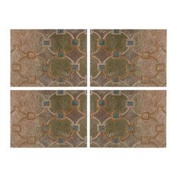 Geometric Printed Metal Wall Decor Panels - Set of 4 - *Dimensions: 24Hx1Wx18L
