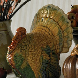 Balsam Hill - Balsam Hill 5 Inch Colored Ceramic Turkey - EMBRACE FALL COLOR WITH THIS FESTIVE TURKEY