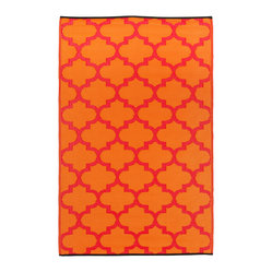 Tangier Rug, Orange Peel & Rouge Red, 6x9