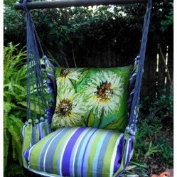 Magnolia Casual Spring Splash Hammock Chair & Pillow Set